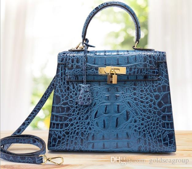 4698a8a94078 Crocodile Bags Shoulder Brand New Handbag Tote 3D Emboss Ostrich Wholesale  Women Tote Purse CA France Genuine Leather Bag Paris US EUR Handbags Purses  From ...