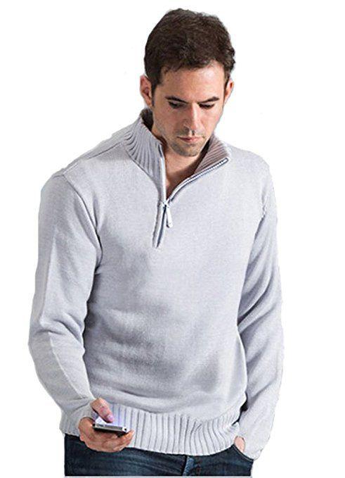 Costume cosplay da uomo grigio chiaro con cappuccio lavorato a maglia