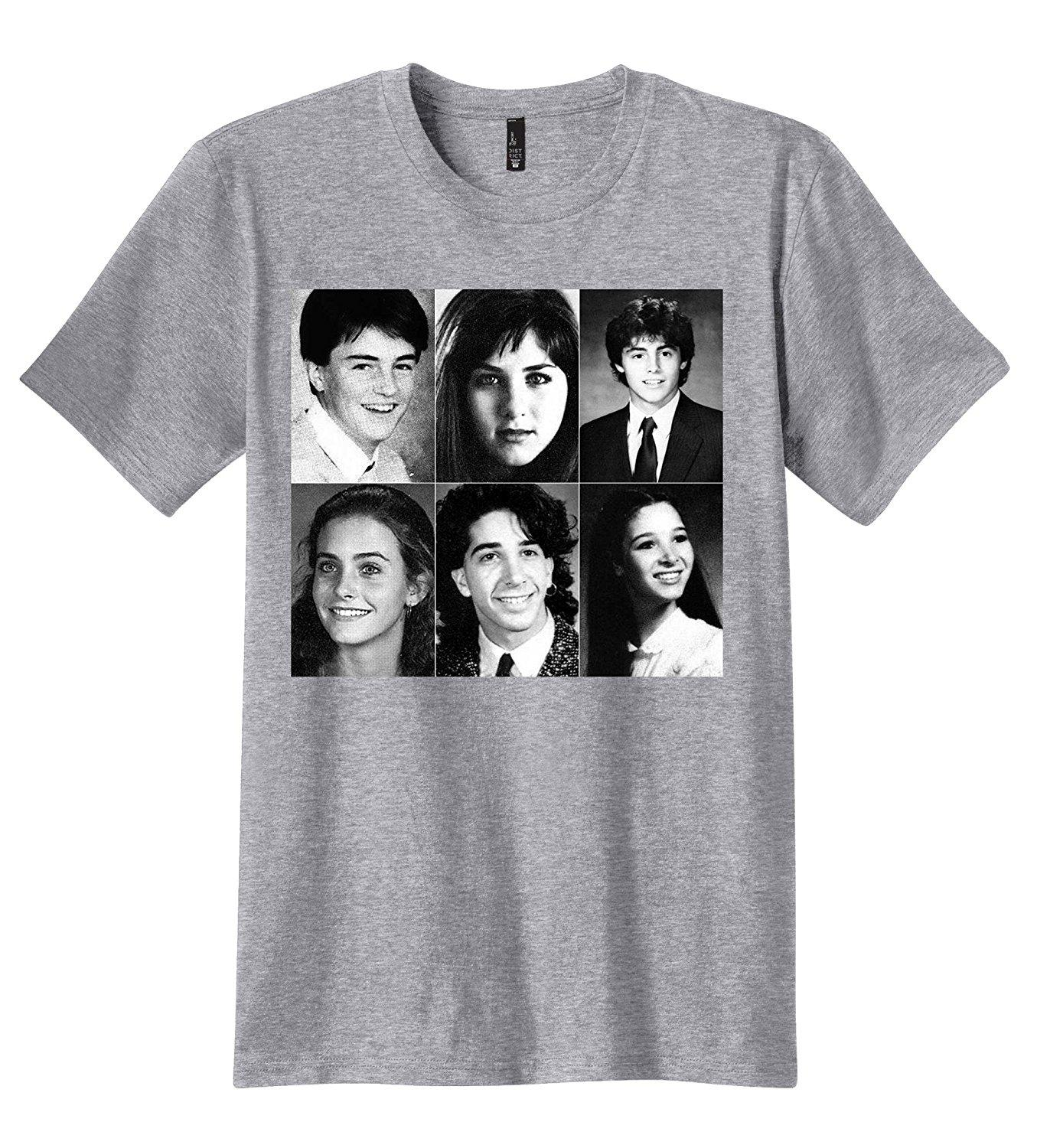 c25c7e8b5 PubliciTeeZ Friends Cast Yearbook Picture T Shirt Cartoon T Shirts Urban T  Shirts From Spreadshirtinc, $11.01| DHgate.Com