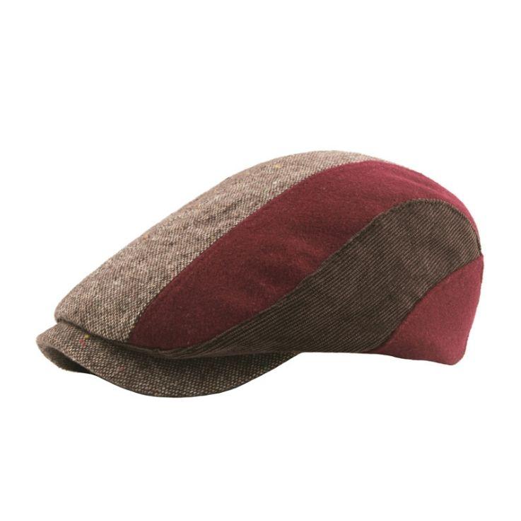 Compre Novos Homens E Mulheres Outono E Inverno De Espessura Boina Quente  Listrado Treliça Costura Simples Chapéu De Boina De Liaa 053951d9f14