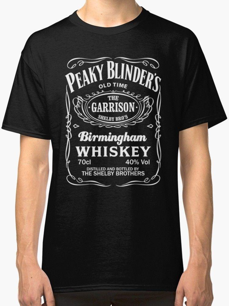 aae4c8359 Peaky Blinders Men'S Black T Shirt S 2XL 100% Cotton Cool Tops Men'S Short  Sleeve Funny Fashion Summer Top Tee Funny Rude T Shirts Trendy Mens T Shirts  From ...