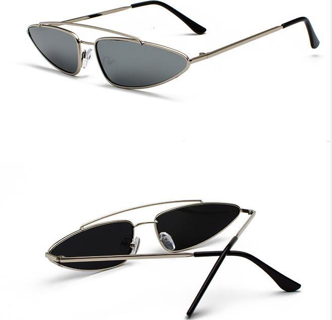 e7702f6aef Women S Triangular Metal Sunglasses Colorful Glasses European And American  Street Hot Style Sunglasses Round Glasses Designer Glasses From Beijiabei