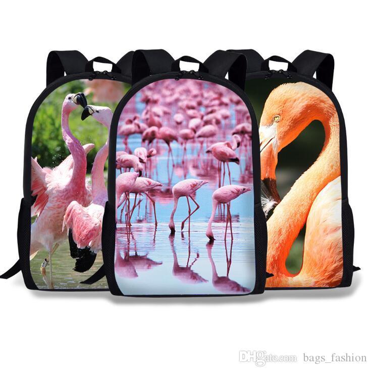 29439d515296 Unisex Backpacks Flamingo 3D Printing Bookbag Women Shopping Travel Bag 16  Inch Children School Bag Casual Bagpack 33 Styles Swiss Gear Backpack  Osprey ...