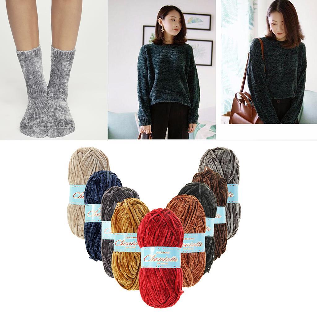2019 Fityle Chenille Yarn Ball Hand Knitting Yarn For Scarf Sock