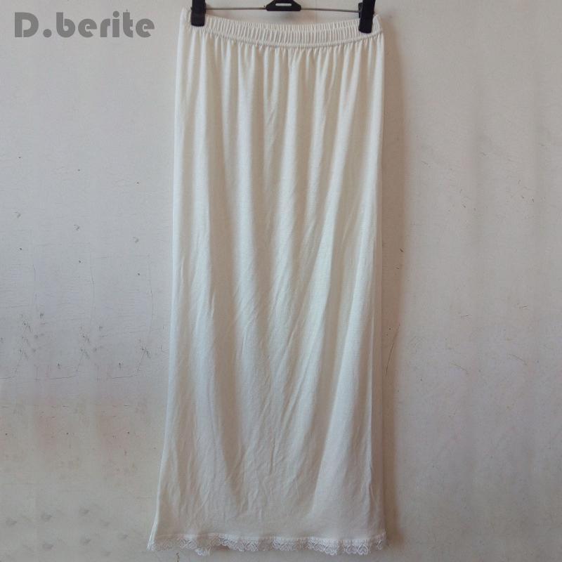 c2d487d3d7969 Women Waist Slip Lady Black White Long Underskirt Soft And Comfortable  Cotton Length 70cm Petticoat Half Slips New YYY9381