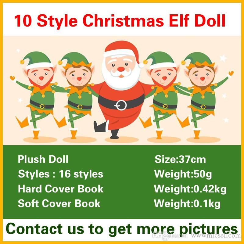 christmas elf doll plush toys boy girl elves hard cover soft book stuffed dolls kid children xmas toys decorations gifts christmas toys for children kids