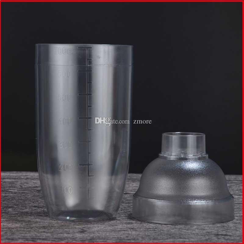 Vino Shaker plástico Boston Coctelera 350 530 700 1000 ml Mezclador del vino que bebe martini barra de herramientas Boston Party Shaker Estilo