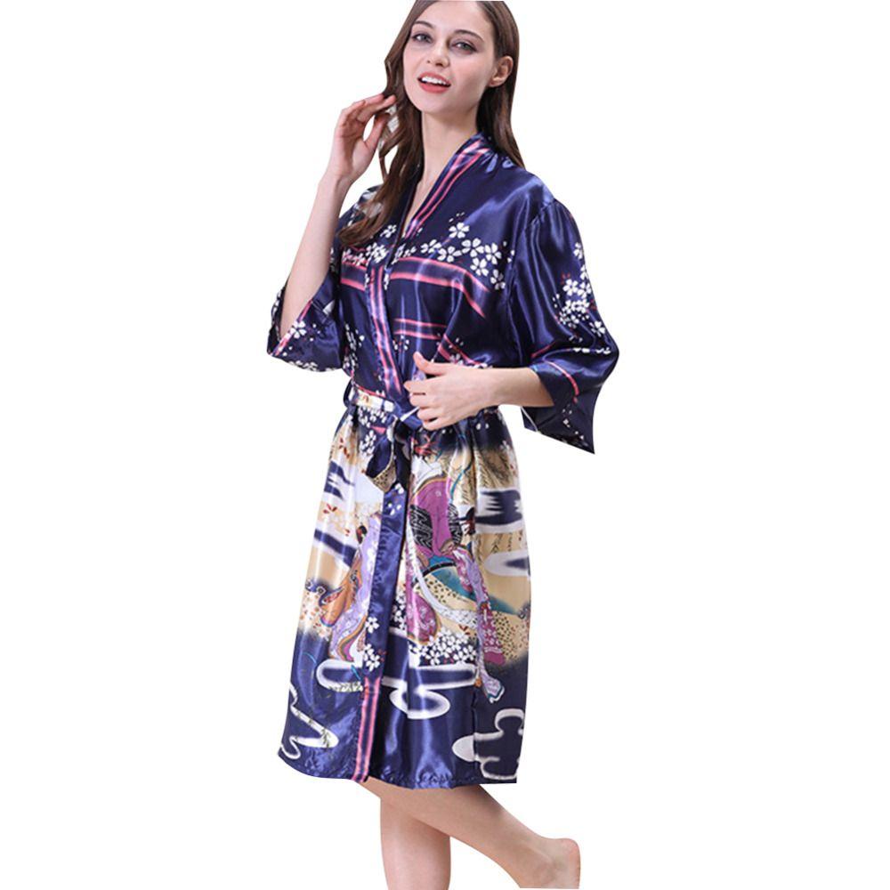 f5e84b918 Compre Mulheres Grávidas Camisola Meia Manga Flores Chinesas Imprimir  Confortável Macio Underwears Camisola De Maternidade De Localking