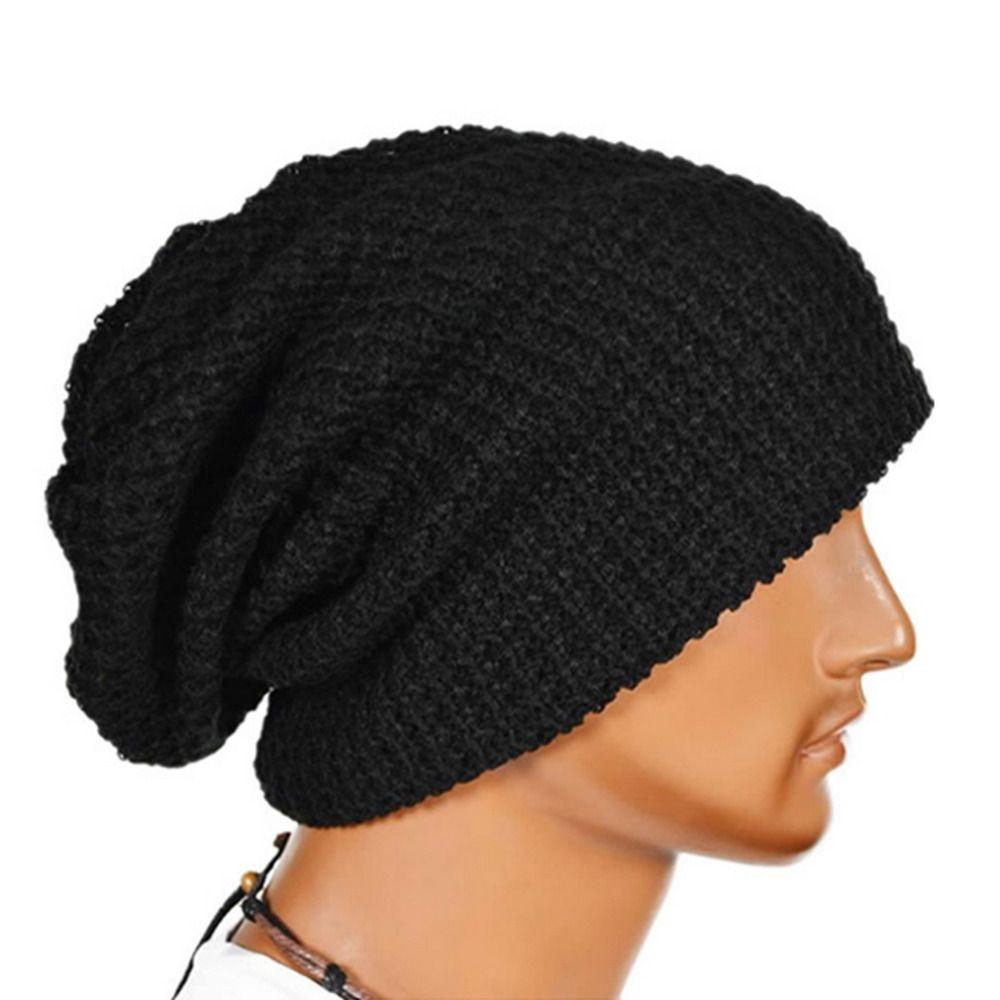 3a6cd5c2d93 Men Women Warm Winter Knited Beanies Skull Bandana Slouchy Oversized ...