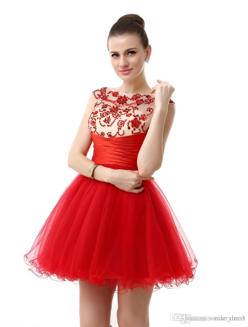 08b3cb7f793f8 Homecoming Dresses Red Short - PostParc