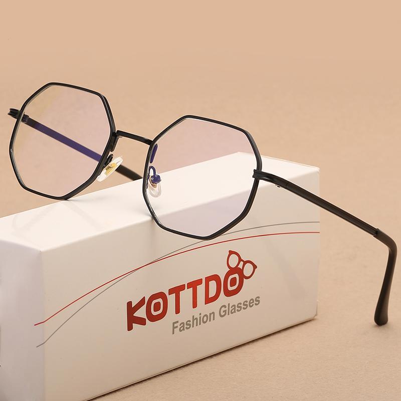 94eab4c2aef 2019 KOTTDO Glasses Women Reading Eyeglasses Frame Men Glasses Optical  Polygonal Feminino Oculos De Grau Femininos Gafas From Vintage66