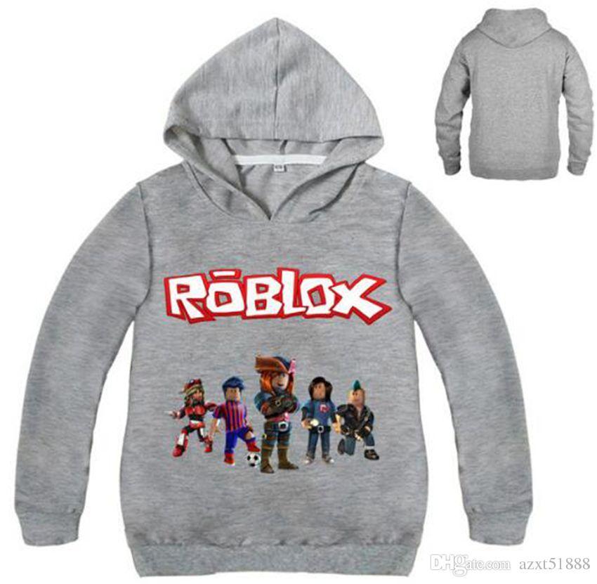 Long Hoodies Boys Sleeve Kids Jacket Outwear Sweatshirt Roblox OkXiuZTP