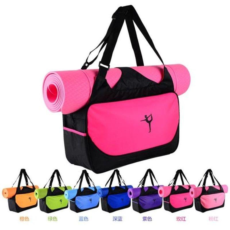 no Yoga Mat Men's Shoes Rational Convenience New Yoga Bag Waterproof Mesh Backpack Shoulder Messenger Sport Bag For Women Yoga Bag Black