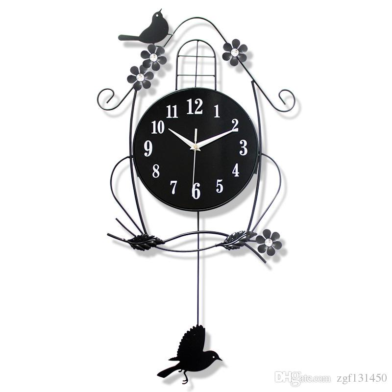 Modern Minimalist Style Mute Clock With Luminous Glow For Childrenu0027S  Bedroom Decoration Art Wall Clock 018 Shop Wall Clocks Silent Wall Clock  From Zgf131450 ...