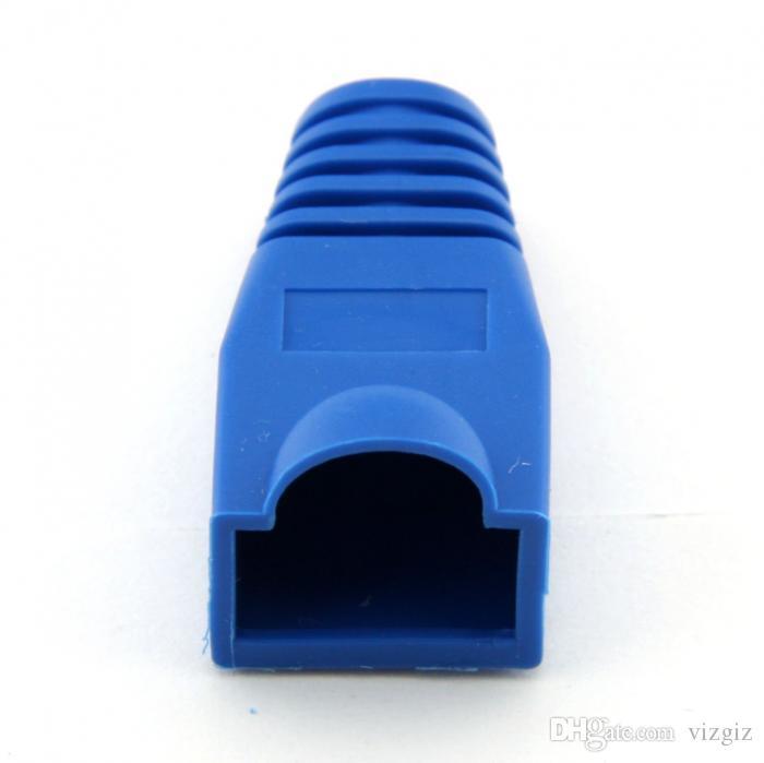 100 шт. мягкий пластик Ethernet RJ45 кабель разъем сапоги штекер крышка случайный цвет XXM