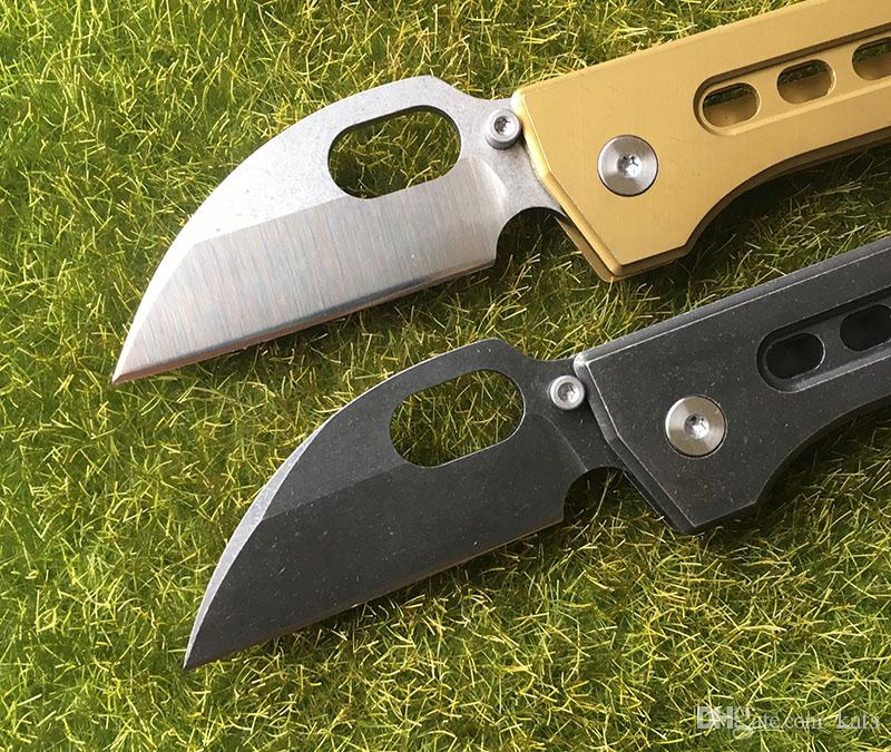 cuchillo de regalo de bolsillo 440C hoja de acero mango bola flip cuchillo plegable caza acampar al aire libre herramientas EDC