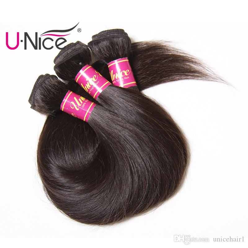 Unice Brazilian Straight Hair Bundles 100% Raw Indian Remy Human Hair Extensions Natural Color Malaysian Hair Weave Wholesale Bulk