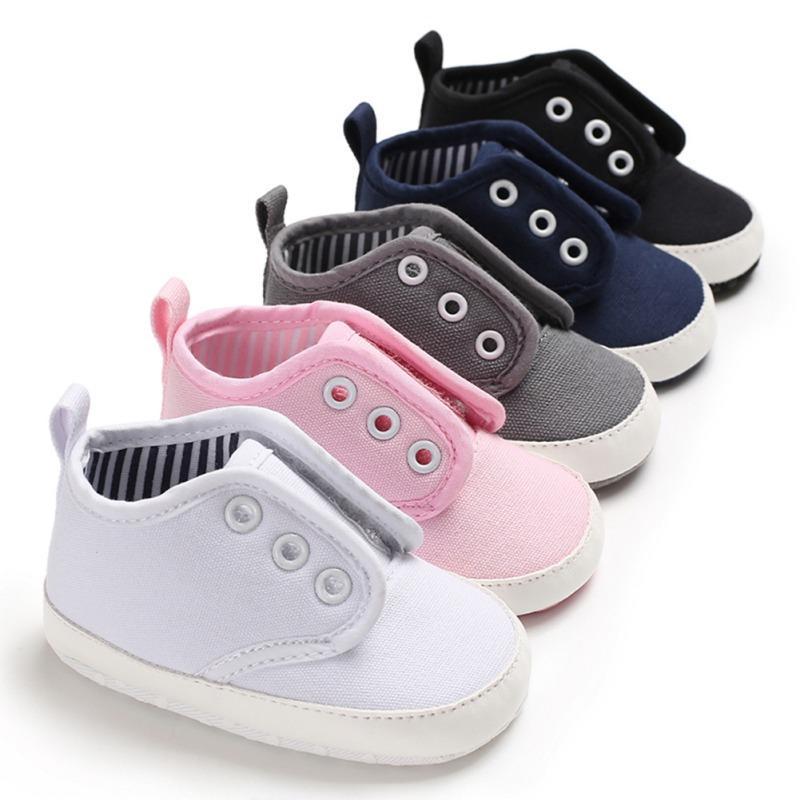 80786d35a7617 Acheter Toile Bébé Chaussures Nouveau Né Automne Toile Mode Bébé Garçon  Filles Chaussures Premier Marcheurs Coton Doux Sport Pour Enfants De  36.12  Du ...