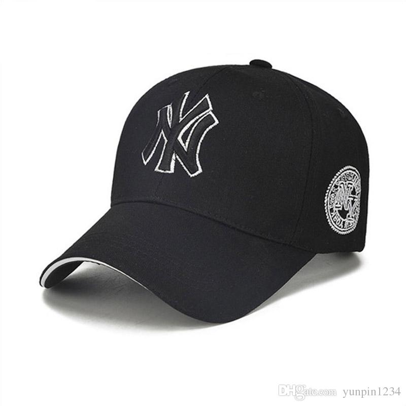 d96f93567 2019 2018 New Style Sports Baseball Cap Cotton Embroidery Material  Wholesale Korean Style MLB Fashion NY Letter Embroidery Hat From  Yunpin1234, ...