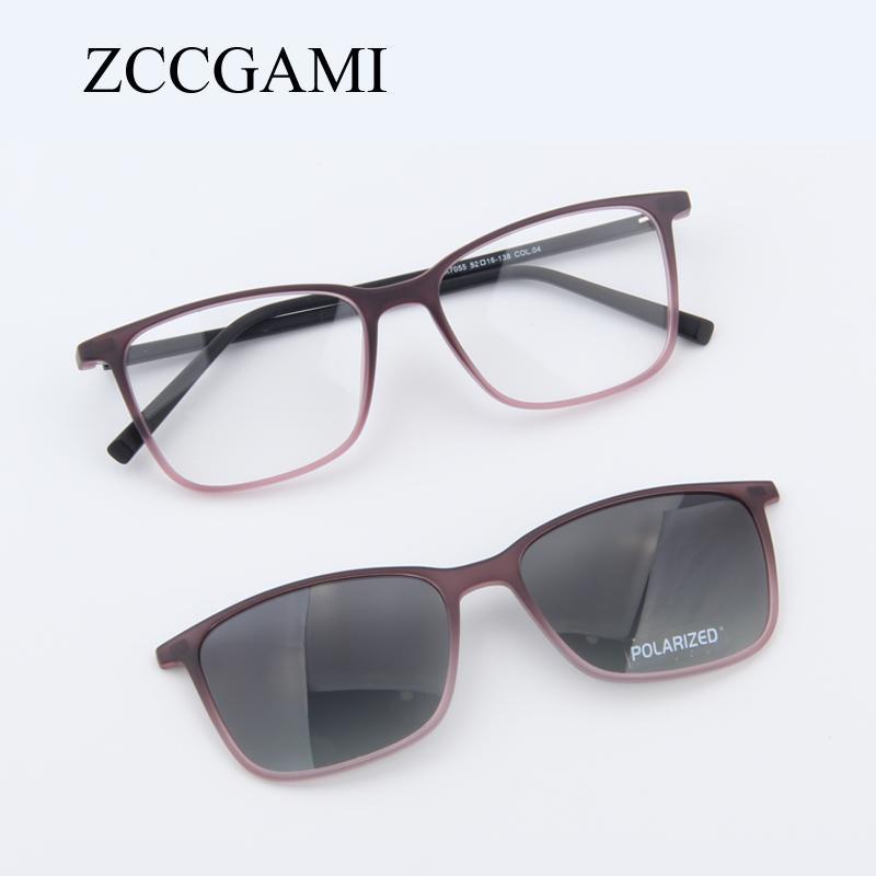 fd424d6a08493 Compre Homens Da Moda TR90 Óculos De Sol Quadro Clipe Magnético Na Lente Polarizada  Óculos De Armação Dupla Finalidade Óculos De Sol Para As Mulheres   7055 ...