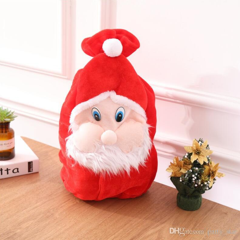 cool 3d santa claus face design christmas gift bag children shopping candy bag christmas decoration props drop shipping 3d santa claus face design christmas