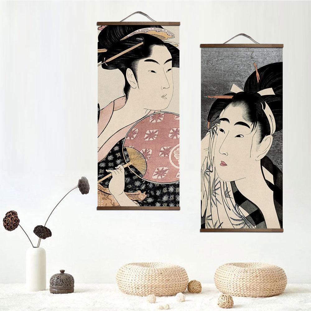 Satın Al Japon Ukiyoe Için Tuval Boyama Posterler Ve Baskılar Katı