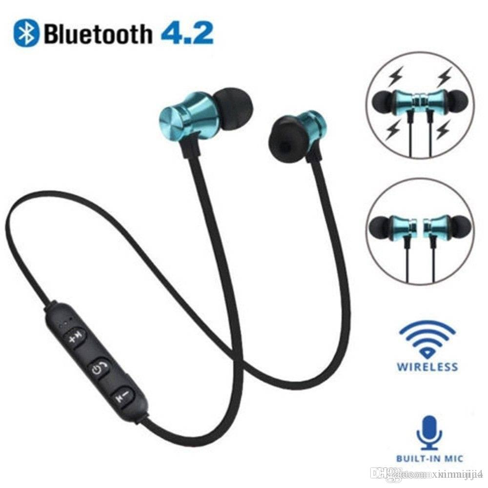 xt11 magnetic bluetooth 4 2 wireless stereo headset in ear headphone rh dhgate com