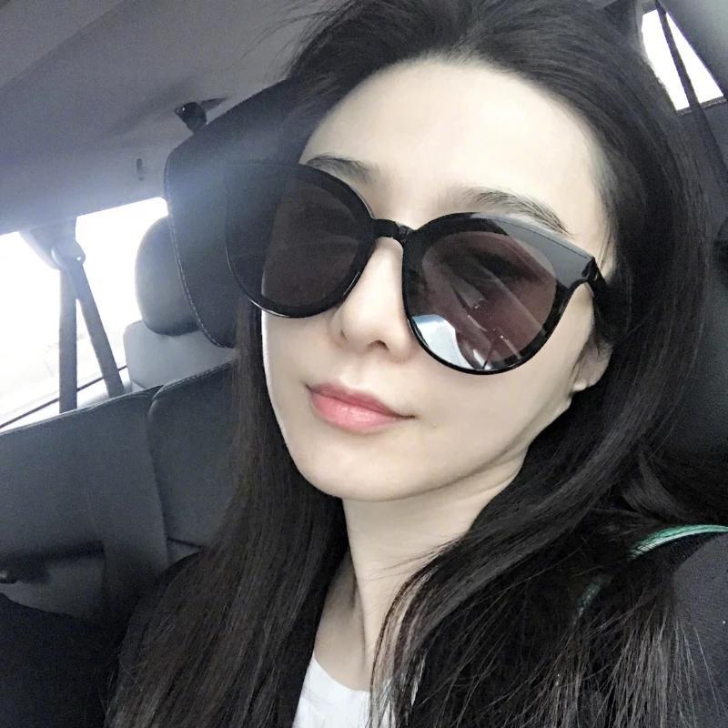 d301a9c234 ... Grande Frame Óculos De Harajuku Mulheres Versão Coreana Da Web  Celebridade 2018 Novas Óculos De Sol Das Mulheres Grandes Óculos De Rosto  Redondo Rosto ...