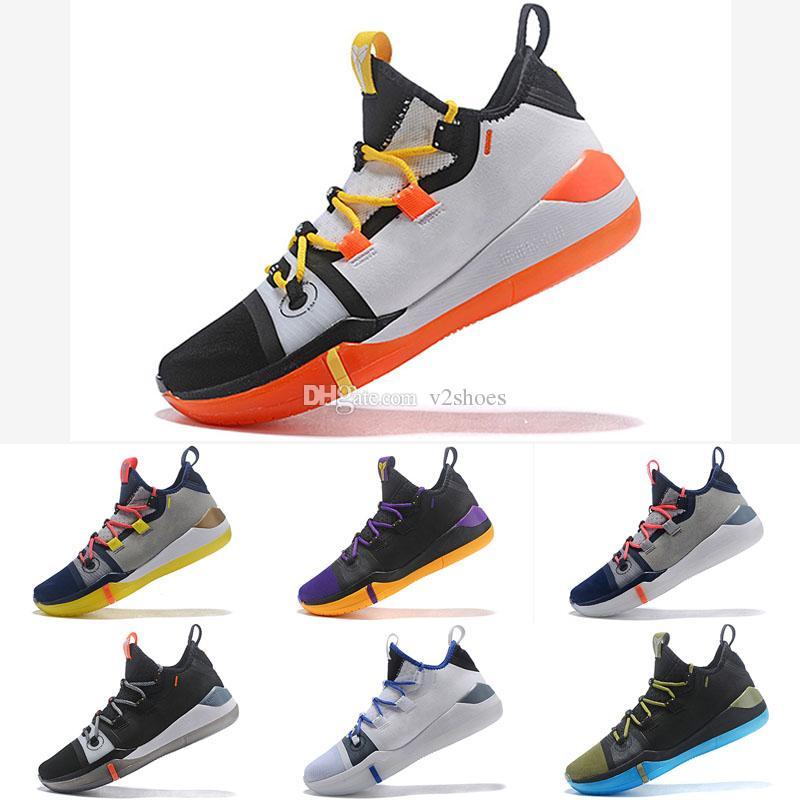 sports shoes ae12d 0201b ... spain großhandel 2019 kobe ad mamba tag a. d. ep sail multi color  herren basketball schuhe größe