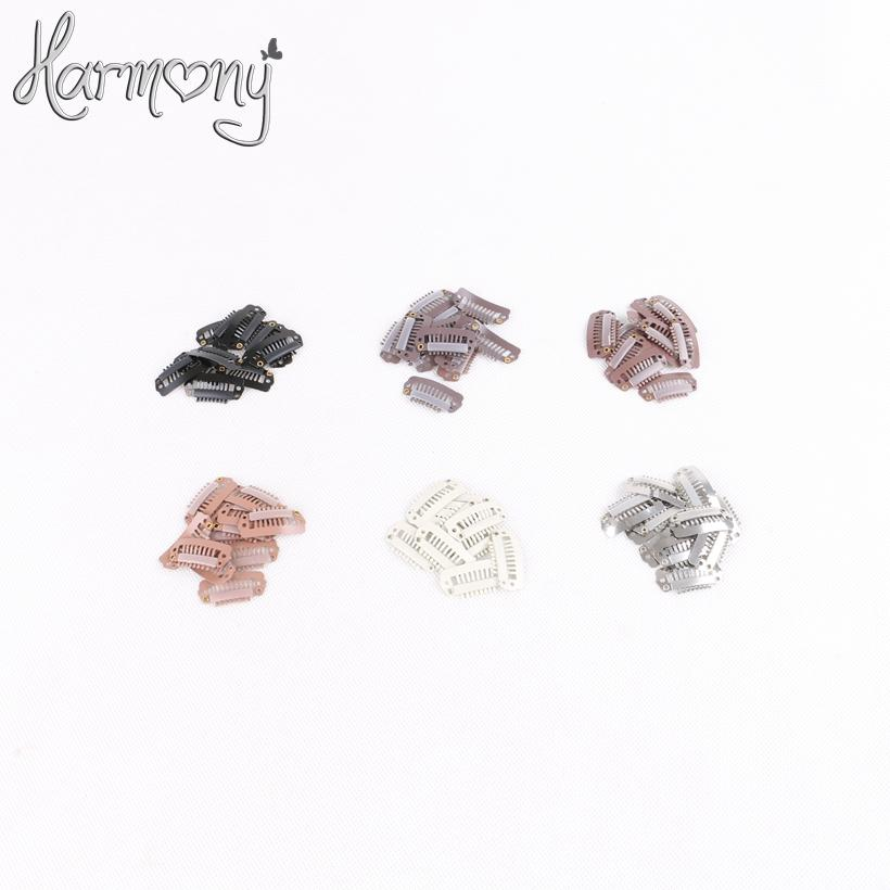 Free Shipping 1000 Pieces Bag 2.8 Cm With 8 Teeth I Shape Small Hair Extension Snap Clips 6 Colors For Your Choices Tool