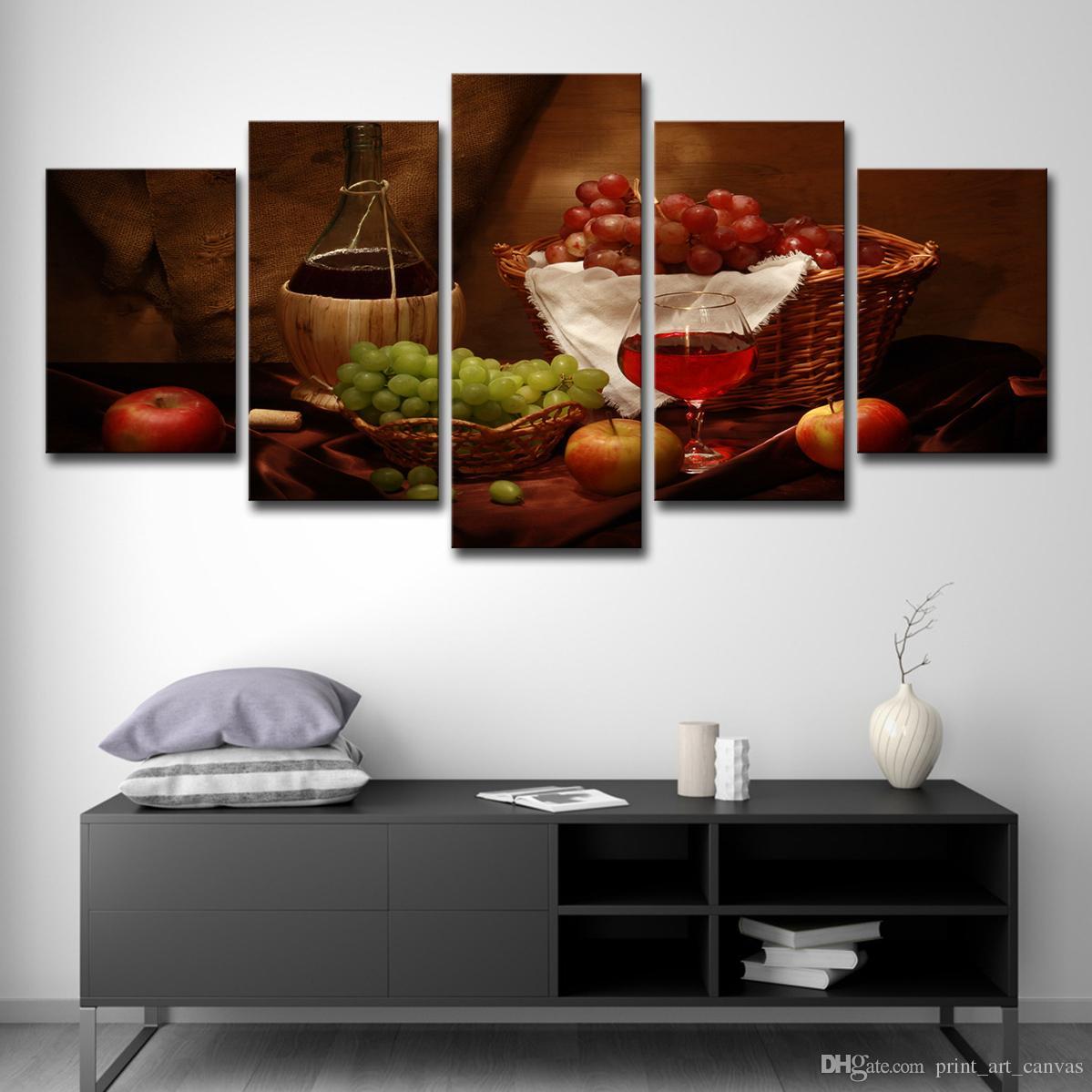 Gemälde Wohnzimmer, großhandel hd prints gemälde wohnzimmer dekor küche poster 5 stück, Design ideen
