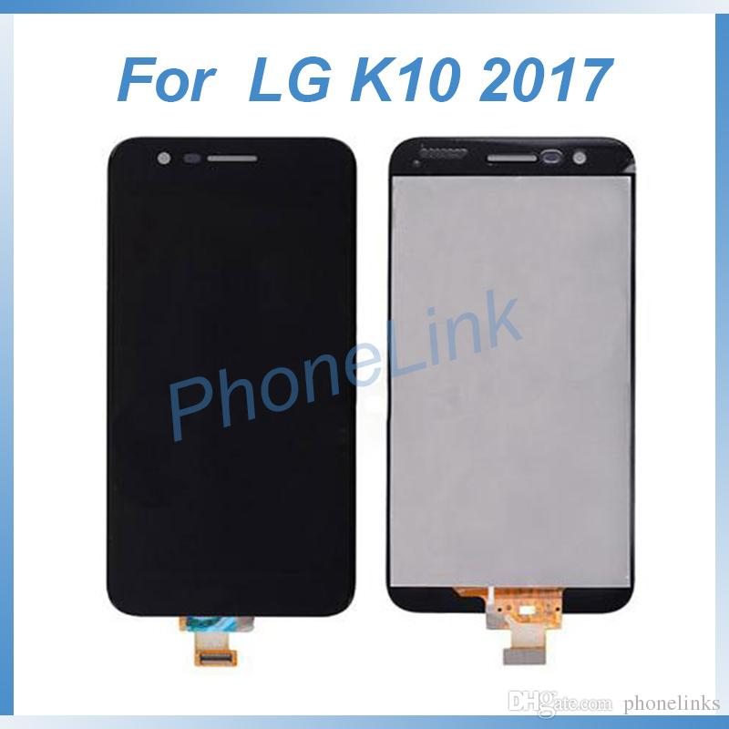For LG K10 2017 with frame LCD touch screen display digitizer assembly replacement for LG K10 screen repair fix