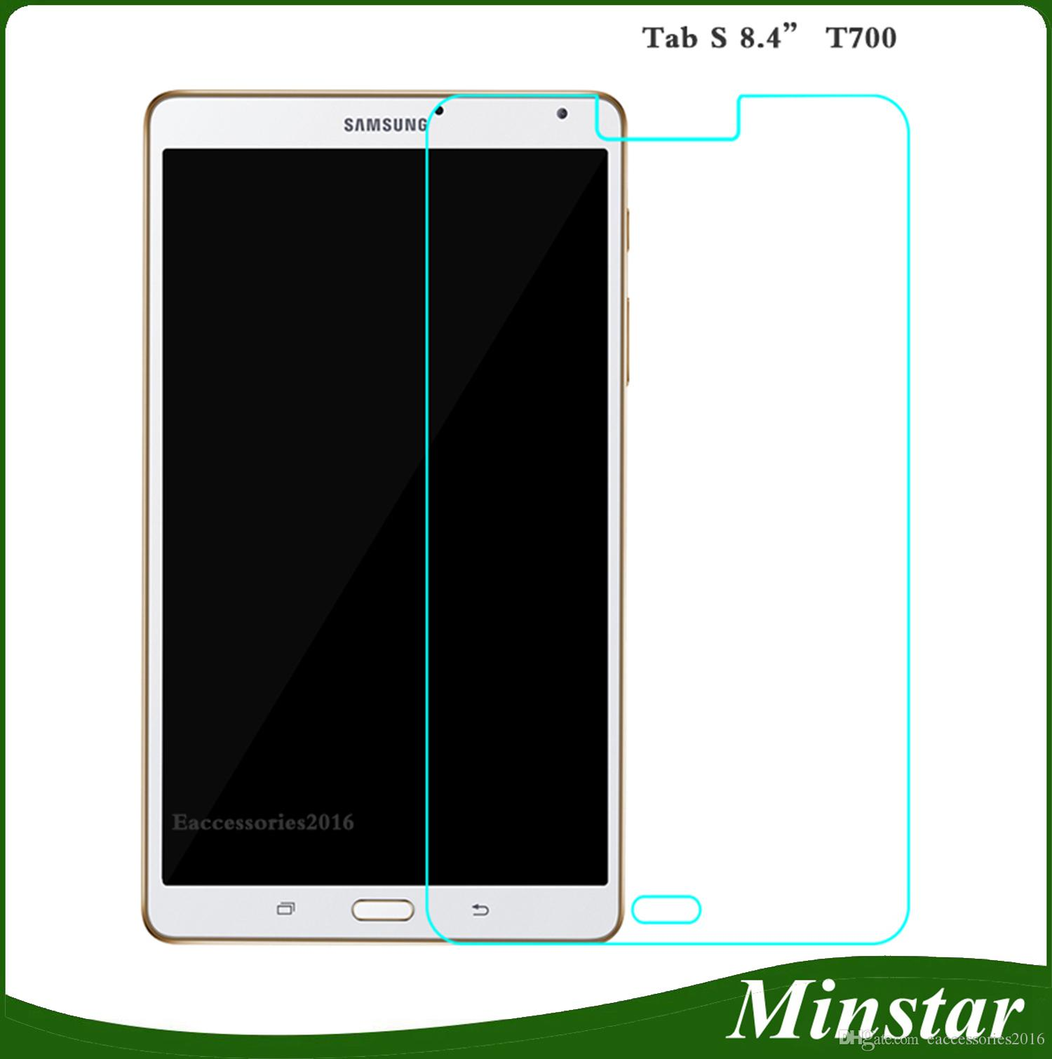 For Samsung Galaxy Tab S T700 T705 8 4 Inch T800 T805 10 5 Hard Clear Bubble Free Tablet Tempered Glass Screen Protector Best Cell Phone Screen Protectors