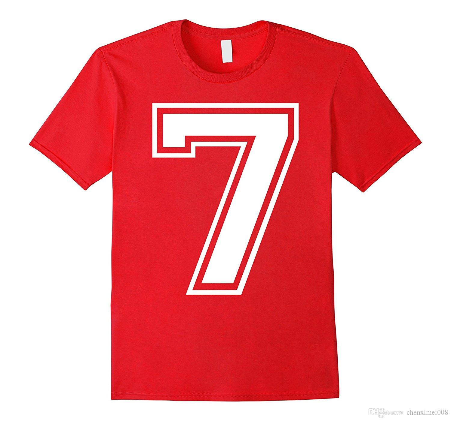 Number 7 Seven College 7th Birthday T Shirt Design 1 Good Sites From Chenximei008 1421