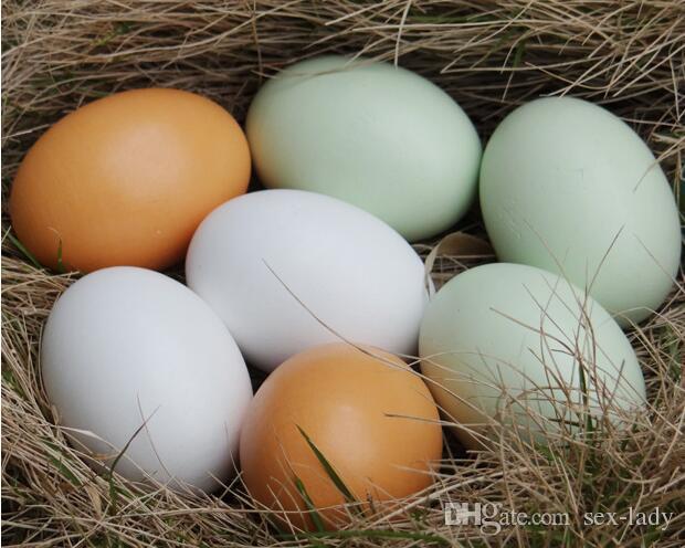 Los huevos de madera de la emulación de DIY fingen jugar los huevos de la comida de la cocina los huevos pintados del Doodle juegan la broma los regalos creativos los juguetes para los niños regalo de Pascua