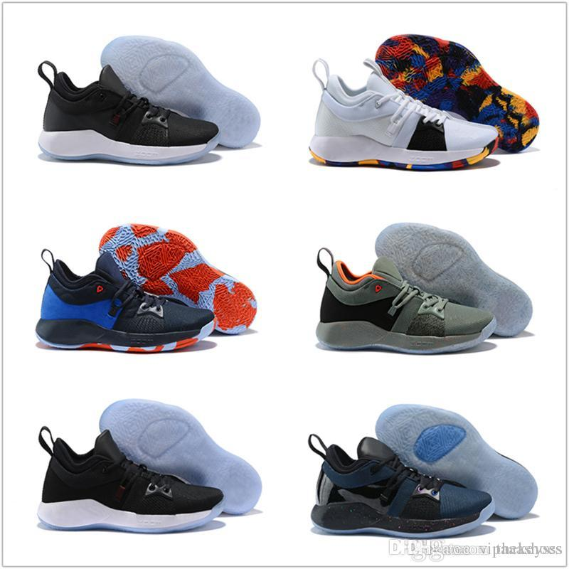 watch 5423b b970f High Quality Paul George PG2 PlayStation Men Basketball Shoes Athletics  Sneakers PG 2 Sport Outdoor Boots size eur40-46