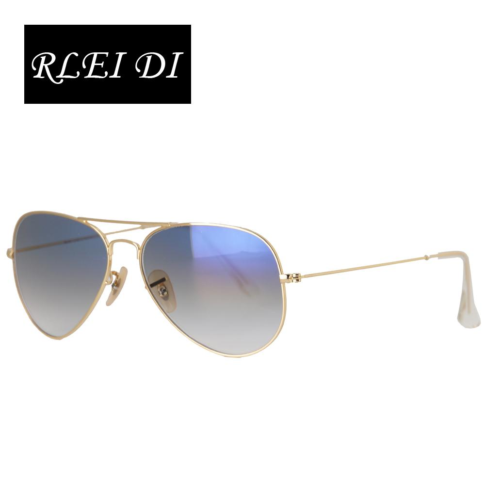 8a015122a0a2 RLEI DI Highest Quality Men Women Unisex Classic Sunglasses Gold Frame Blue  Gradient Glass 58mm Lens Glasses Eyewear For Driving Round Glasses Designer  ...