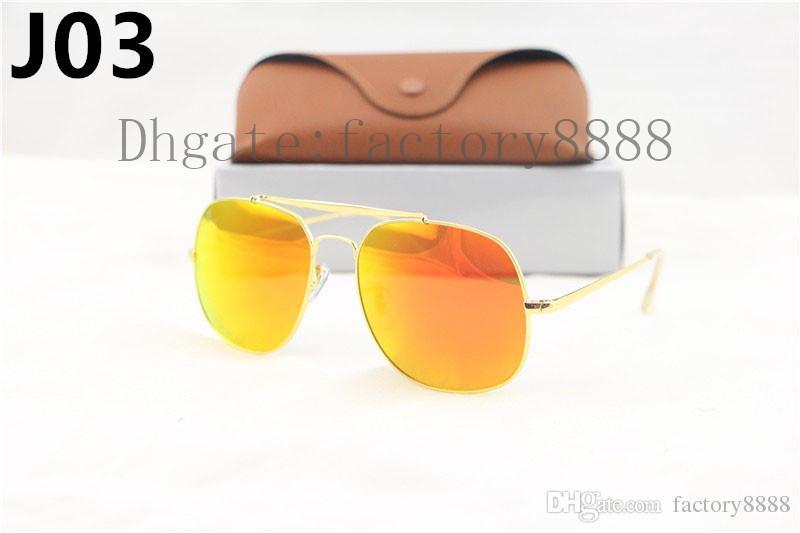Mükemmel Kalite Erkekler için 3561 Güneş Gözlüğü Marka Tasarımcı Güneş Gözlüğü Genel Güneş Gözlüğü Büyük Boyutu ile Kutu 58mm Metal Çerçeve Cam Lensler
