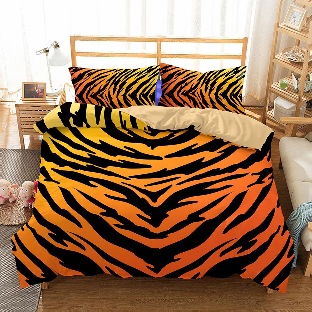 High Quality Luxury Animals Tiger Lion Bedding Set Western Style