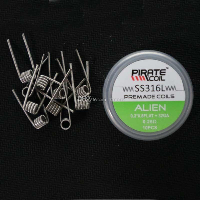 Bobina pirata SS316L Alien Tiger Fused Clapton HIVE Bobina preconstruida Cables de calefacción para RDA RTA Atomizador Accesorios de cigarrillos electrónicos