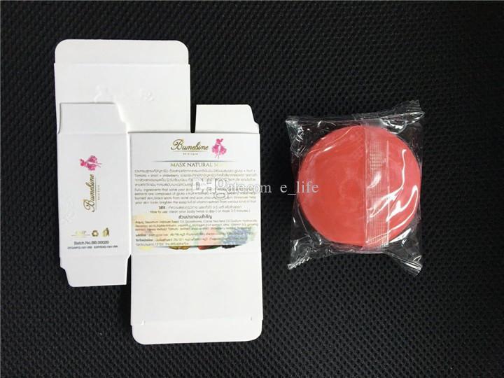 Bumebime trabajo hecho a mano jabón blanqueador con fruta esencial máscara natural blanco brillante aceite jabón DHL