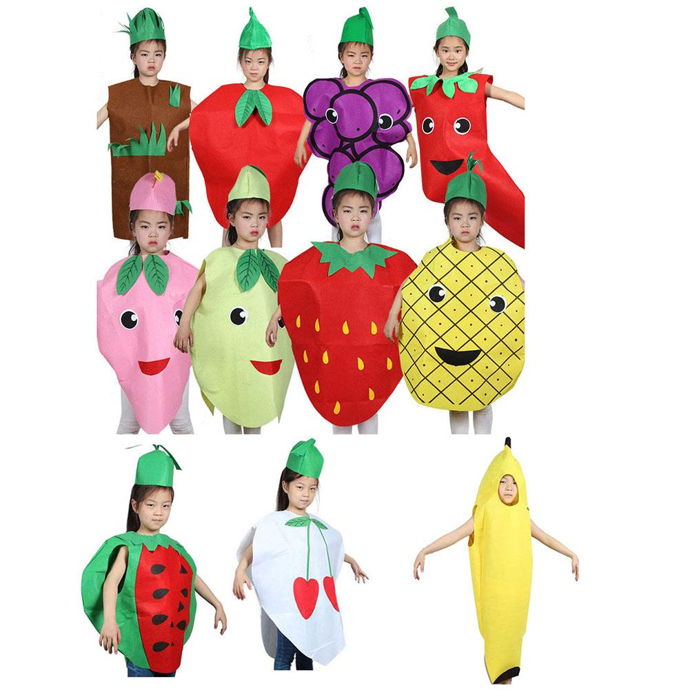 93261f62d4d Fashion Unisex Children Fancy Dress Cartoon Fruit Vegetable Kid Costume  Suits Party Outfit Boy Girl Performance Clothes Costumes For Groups Of 6  Halloween ...