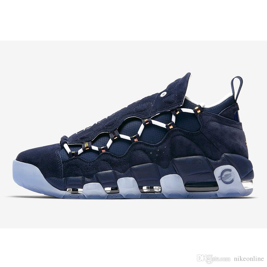 16c76beb3b9d 2019 Mens Air More Money Basketball Shoes Get Mo Global Currency Bold US  Dollar French Euro British Pound LNY CNY Japan NYC Bronx Sport Sneakers  From ...
