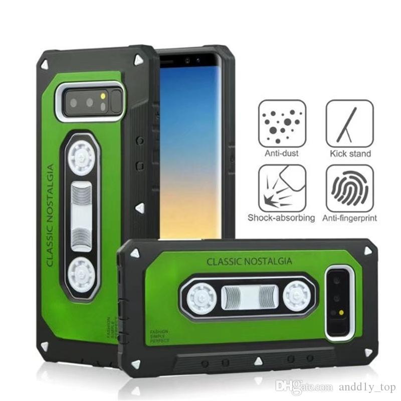 New Style Classic tape vintage Antiurto Cove protettiva iPhone X Case Dual Layer Hybrid Old Styles Tape Radio Custodie originali