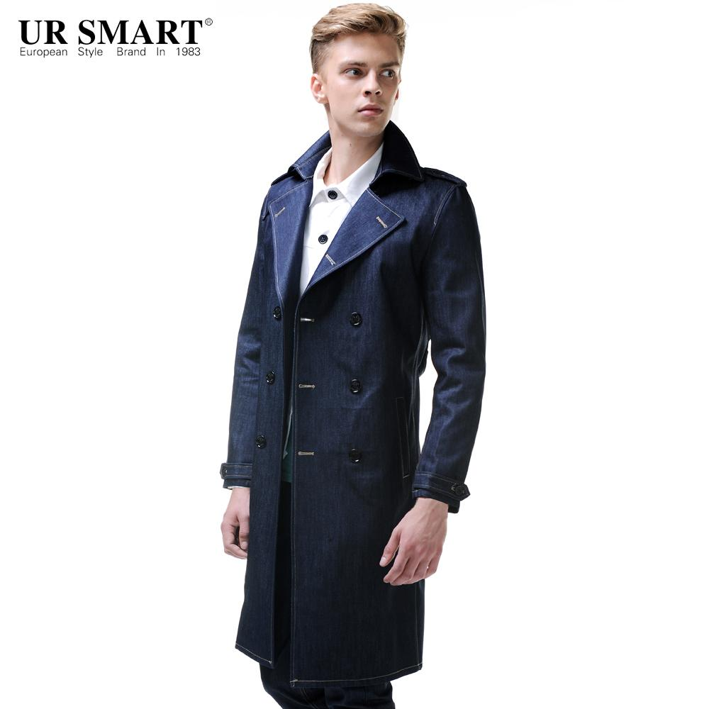 a8cfa73dac0f1 2019 URSMART Autumn And Winter In The New Long Men Cowboys Windbreaker Double  Breasted Waist Personality Male Trench Coat From Bida Jany