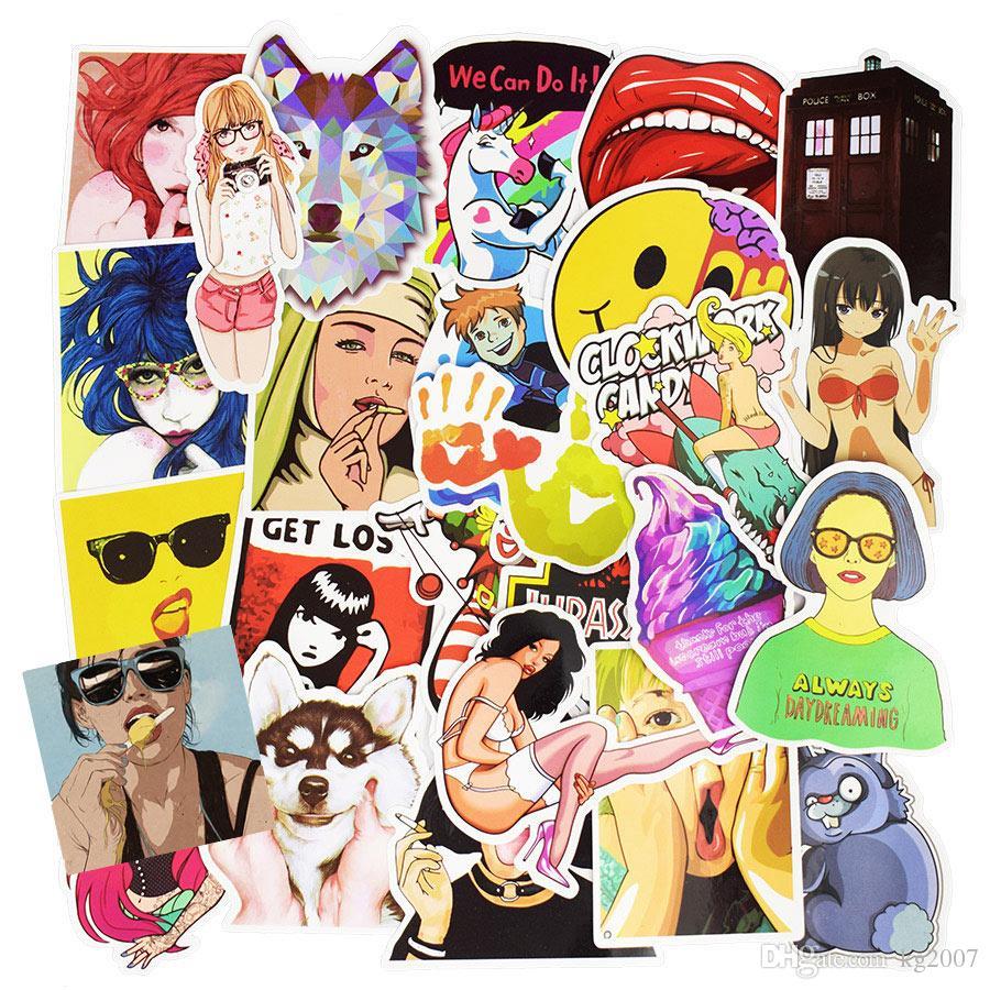 Diy çıkartmalar posterler duvar çıkartmaları çocuk odaları için ev dekor sticker on laptop kaykay bagaj duvar çıkartmaları araba sticker 30 adet