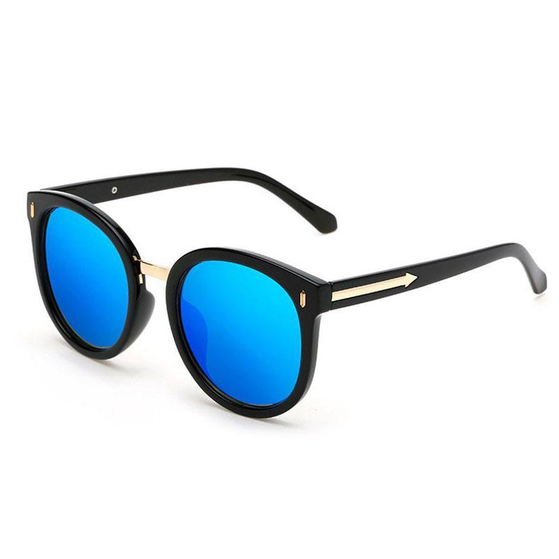 55b922d961 Fashion Classic Brands Design Round Sun Glasses Women Oversized ...