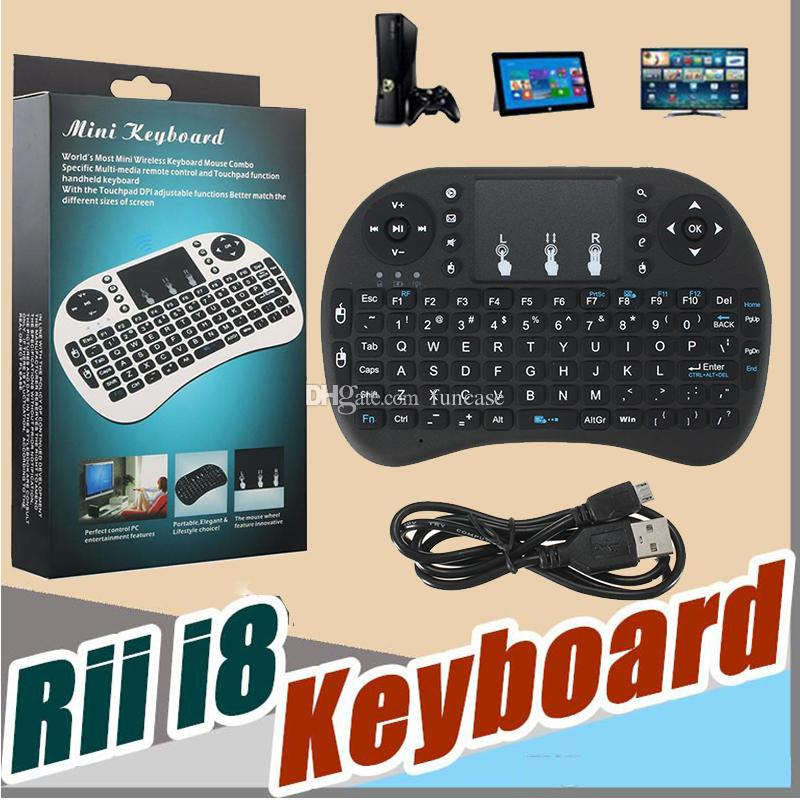 Mini Rii i8 Wireless Keyboard 2 4GHz Air Mouse Keyboard Multi-Media Remote  Control Touchpad For Smart Android TV Box HTPC MXQ Pro M8S X96