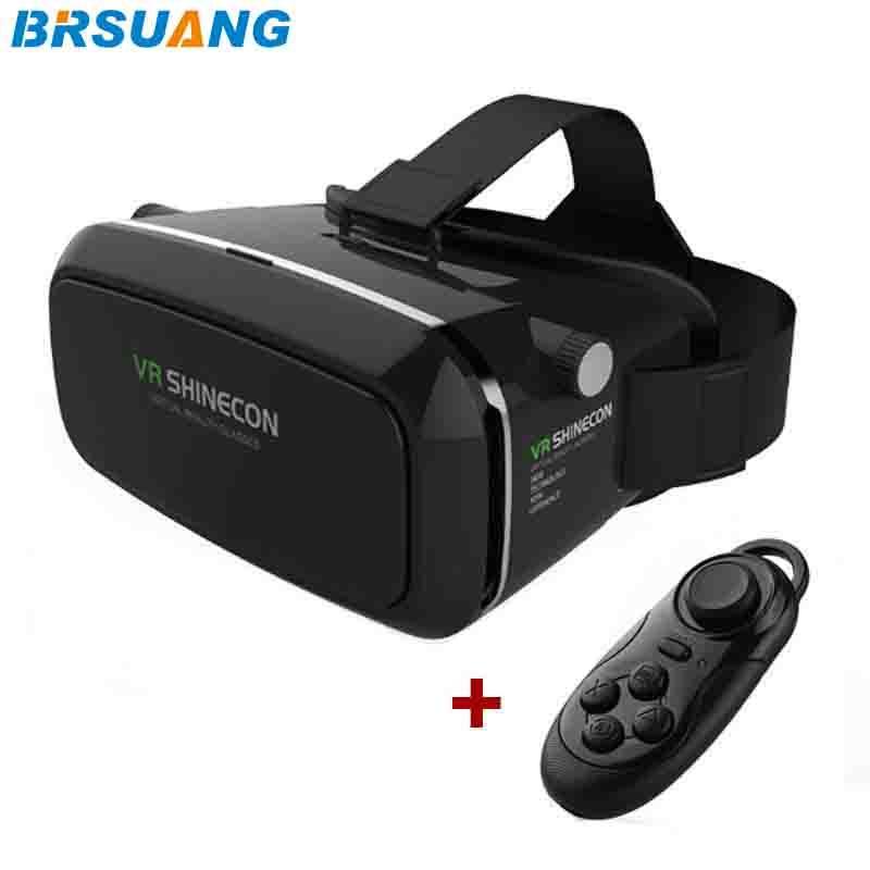 717502e8072f2 Compre 10 Pçs   Lote VR SHINECON 3.5 6.0 Polegada Realidade Virtual 3D  Filmes Jogos De Óculos + Controle Remoto Bluetooth Para Samsung Apple  HUAWEI Etc De ...