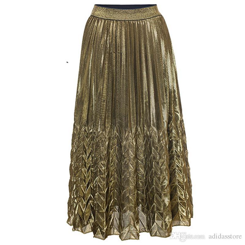 7ef288bb4e Summer Pleated Skirt Long Slim High-waist Fishtail Skirt Beach Skirt Online  with $23.96/Piece on Adidasstore's Store | DHgate.com